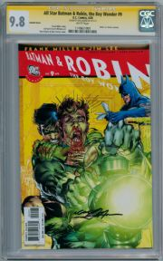 All Star Batman & Robin #9 Retail Variant CGC 9.8 Signature Series Signed Neal Adams DC comic book